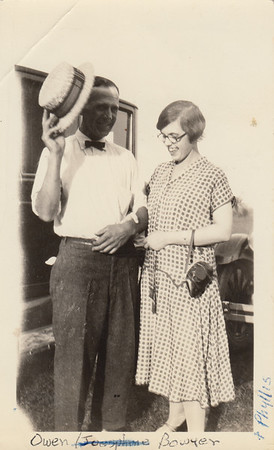 Owen Bowyer with daughter Phyllis Lucille Bowyer