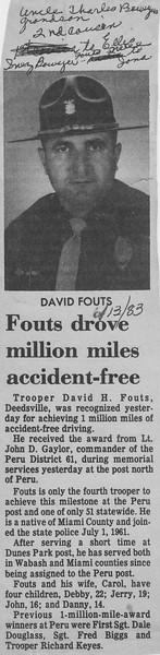 Peru Tribune - David Fouts Drove Million Miles Accident-free 13JUN1983