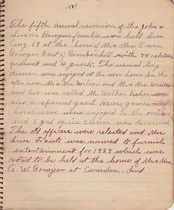 John & Susan Bowyer Family Reunion Minutes 1928
