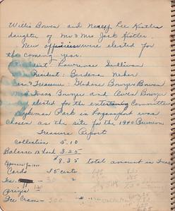 John & Susan Bowyer Family Reunion Minutes 1939