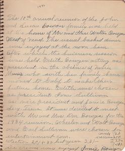 John & Susan Bowyer Family Reunion Minutes 1933