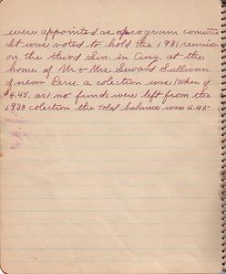 John & Susan Bowyer Family Reunion Minutes 1930