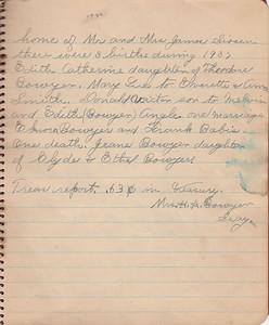 John & Susan Bowyer Family Reunion Minutes 1937