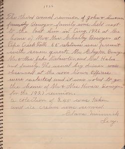 John & Susan Bowyer Family Reunion Minutes 1926