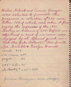 John & Susan Bowyer Family Reunion Minutes 1931