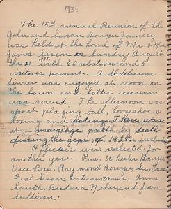 John & Susan Bowyer Family Reunion Minutes 1938