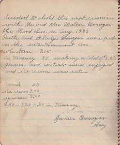 John & Susan Bowyer Family Reunion Minutes 1932