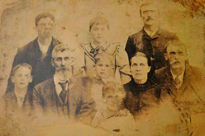 John Marion  & Susan Bowyer and Family circa 1893