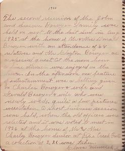 John & Susan Bowyer Family Reunion Minutes 1925