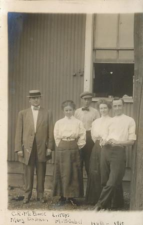 C R McElwee, Mary Dallman, L  Ireys, M  Trimbel HAB 1910