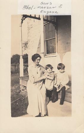 Ethel (Robertson), Eugene & Mason Clark - circa 1917