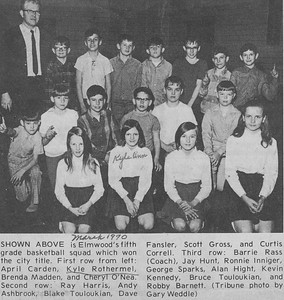 Elmwood Schools 5th Grade Basketball Squad - Kyle Rothermel