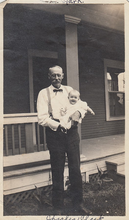 Charles Clark with baby