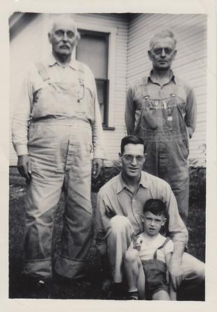 Francis Marion Clark, Orval Leroy Clark, Marion Dwight Clark, & Marion Keith Clark - circa 1948