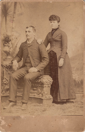 Francis Marion Clark & Mary Frances (Dallas) Clark - Wedding Portrait - 11JAN1891