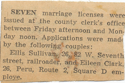 Newspaper (Marriage license)