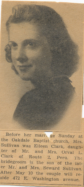 Newspaper Eileen (Clark) Sullivan (Married May 4-1947)