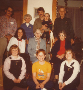Christmas 1981 (Max & Eileen Sullivan, Nick & Zach Hiller, Earl Sullivan, Jane Hiller, Ethel Clark, Joyce, Stephen & Samantha Sullivan