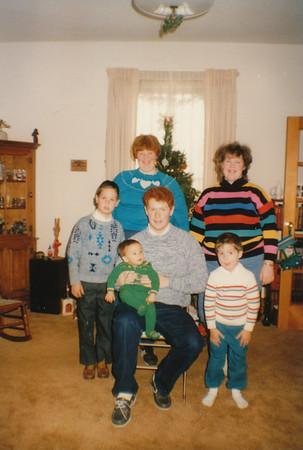 Stephen, Samantha, Joyce Sullivan & Zach, Andrew, Jacob Hiller 1988