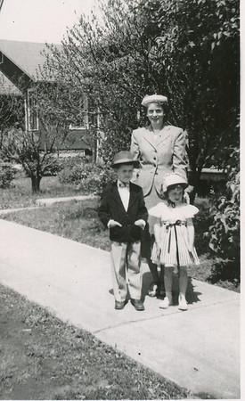 Eileen, Max & Jane 1954