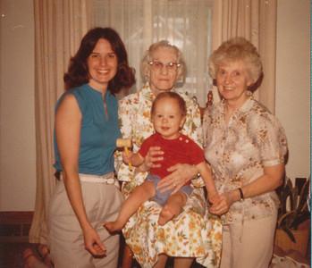 4 Generations 1981 (Jane Hiller, Ethel Clark, Eileen Sullivan & Zach Hiller)