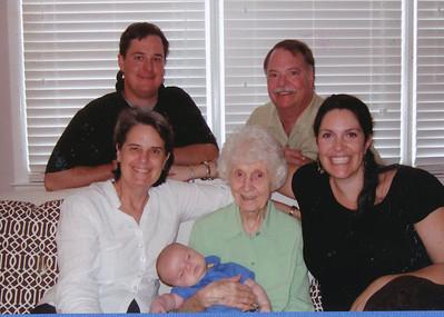 4 Generations 2009 (Zach, Nick, Jane Hiller, Eileen Sullivan, Caytie & Baby Joseph)