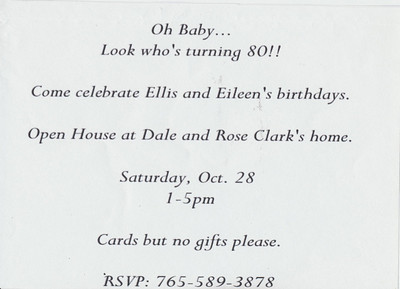 Back of 80th Birthday invite