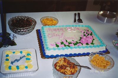 80th party cake table