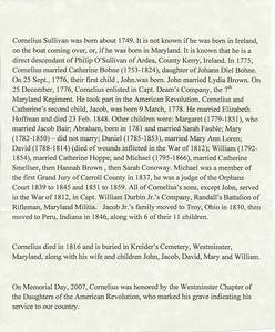 Cornelius Sullivan History