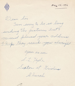Letter from 1976