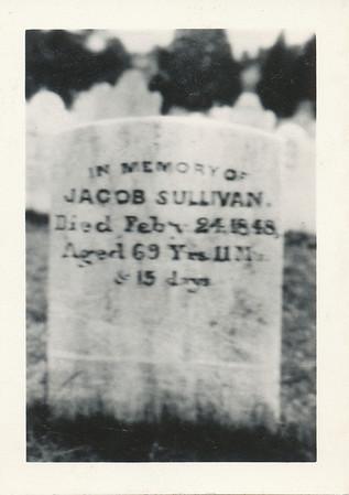 Headstone (Jacob Sullivan - West Minsiter, Maryland)