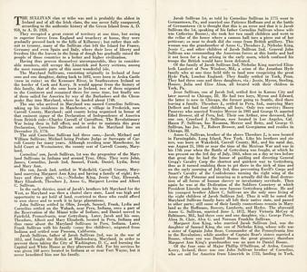 The Genealogy of The Maryland Sullivan b