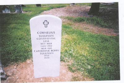 Headstone (Cornelius Sullivan & Catherine Bohn Sullivan)