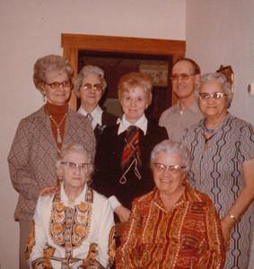 Back - Helen Long, Vera Gallahan, Eileen Sullivan, Marion Clark, Chloie Nipple, Front - Ethel Clark Glady Kile - late 1960s