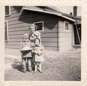 Eileen, Max & Jane Sullivan - March 8, 1954