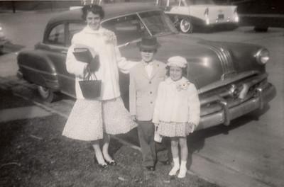 Eileen, Max & Jane Sullivan - Easter 1956