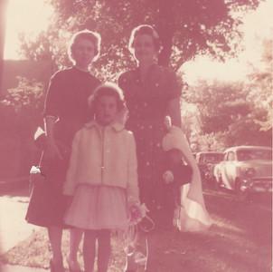 Eileen, Jeanne & Jane Sullivan - West Main Street, Peru, IN - 1957