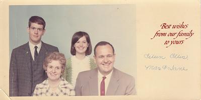 Christmas Card - Max, Jane, Eileen & Ellis Sullivan - circa 1967