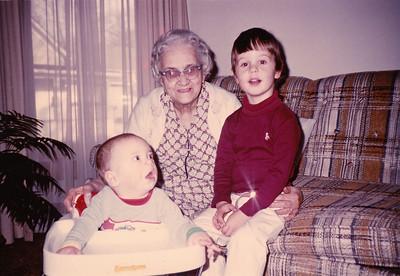Andrew Hiller, Chloe Nipple & Zachary Hiller - November 1984