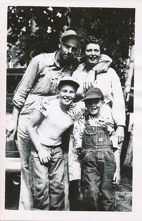Gene, Cora, Ed, Bob Clark 1952