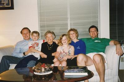 Wilma Hoffman (center) & Family, Robert (son), Chris (Grandson), Wilma, Whitney (Granddaughter), Elaine (daughter), Steve (son-in-law) 1994
