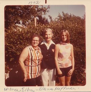 Wilma Hoffman, Elba (Gottschalk) Reed & Elaine Hoffman 1972