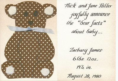 Baby Announcement (Zach Hiller)
