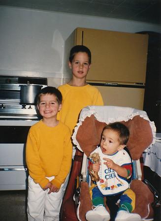 Zach, Andrew & Jacob Hiller Nov 1988