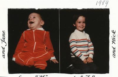 Christmas 1984 Hiller boys