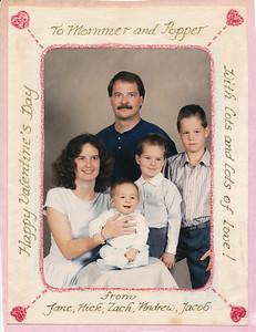 Nick, Jane, Jacob, Andrew, Zach Hiller 1989
