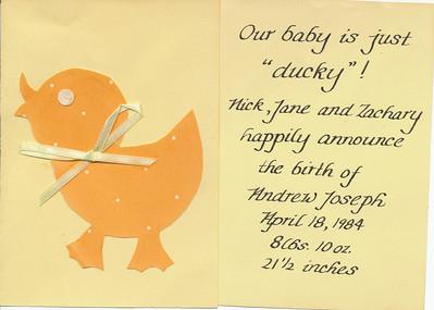 Baby Announcement (Andrew Hiller)