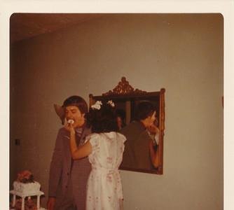 Nick & Jane Hiller 1973 (eating cake)