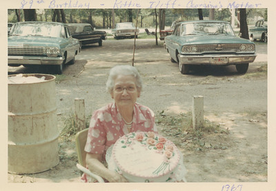 Kittie Iliff 89th birthday 1967