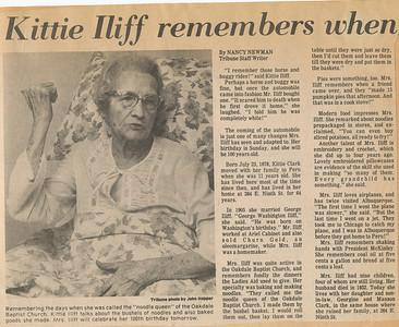Kittie Iliff remembers